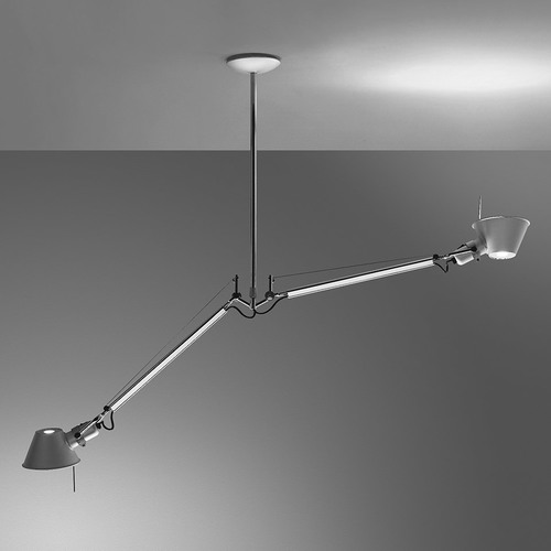 Artemide Tolomeo Due Bracci Suspension Aluminium A036400