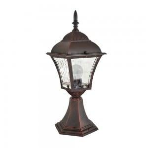 Lampa ogrodowa stojąca z witrażem (34 cm) - PARIS 2 (2in1 żarówka LED w zestawie) small 0