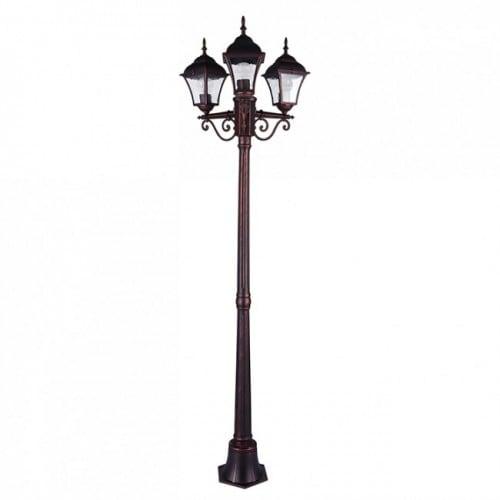 Latarnia ogrodowa 3-punktowa (175 cm) - PARIS 2 - (3 x żarówki LED w zestawie)