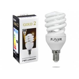 Świetlówka energooszczędna POLUX GOLD2 mini FST2 12W E14 2700K
