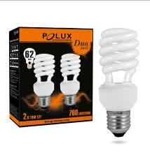 Świetlówka energooszczędna POLUX Duopack T2 11W E27 2700K
