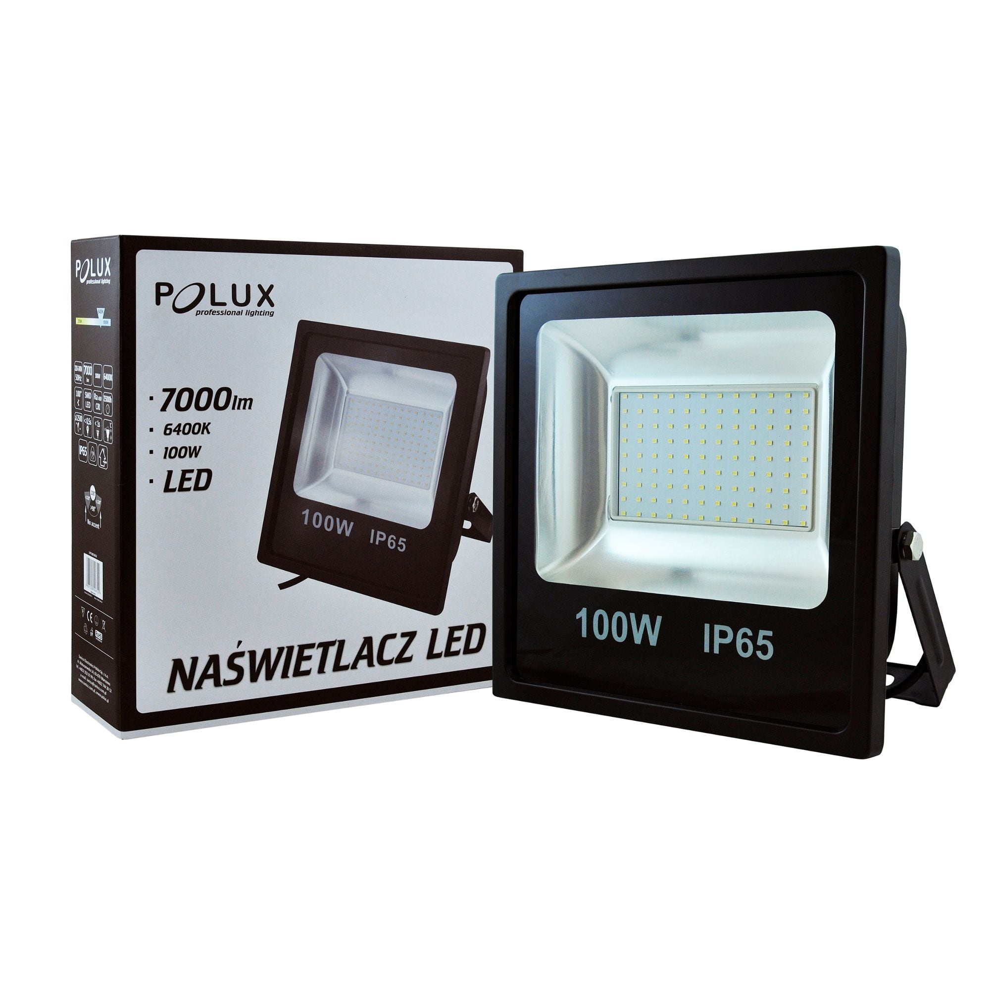 Projektor LED POLUX 100W IP65 czarny