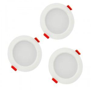 Oprawy LED POLUX MIRO IO8XWWWH3-280 3w1 biale trójpak small 1