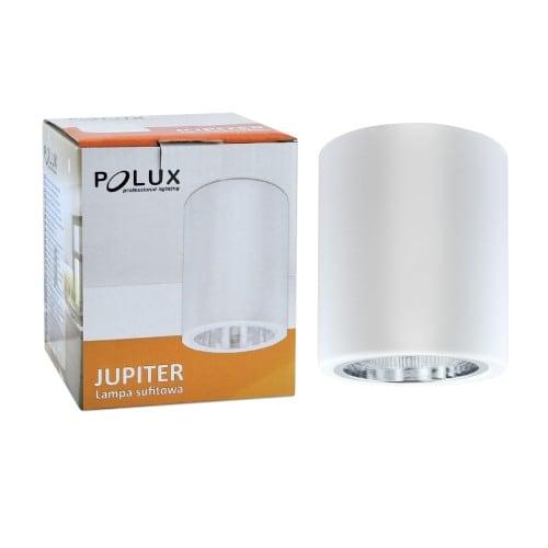 Oprawa natynkowa metalowa okrągła POLUX JUPITER MD-3011 biała
