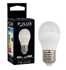 Żarówka LED POLUX G45 E27 1:1 SMDWW 480lm ceramic mleczna