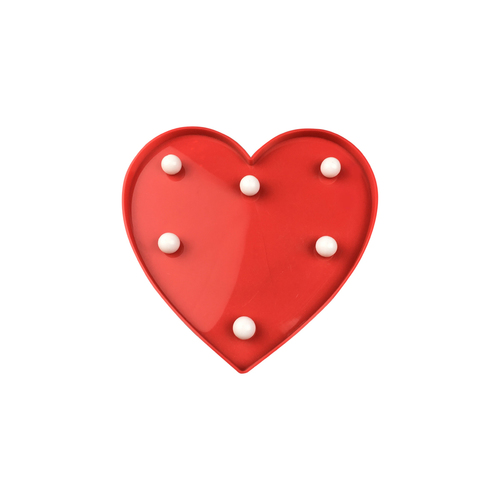 Czerwone Serce Plastikowe Led