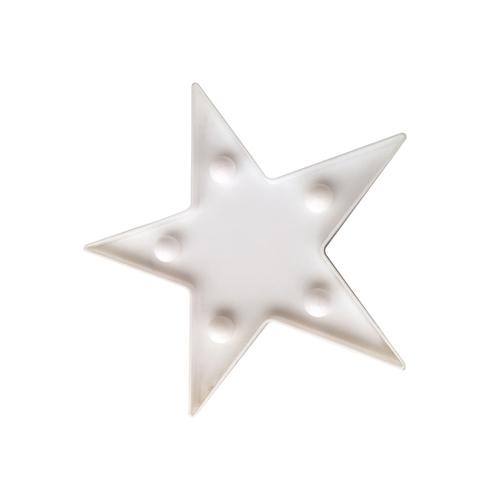 Gwiazda Plastikowa Mała Led 2*Aa