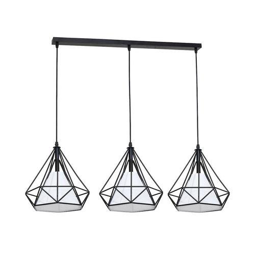 Czarna Lampa Wisząca Triangolo 3x E27