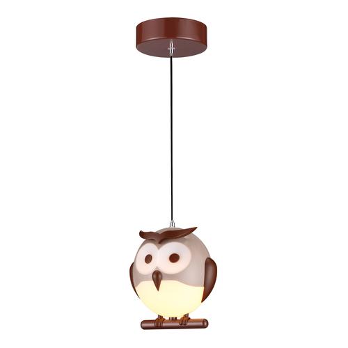 Wielokolorowa Lampa Wisząca Owl 1 Xe14 Led