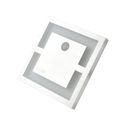 Srebrny Quadro. Barwa Zimna 6500 K. Pir. 12 V