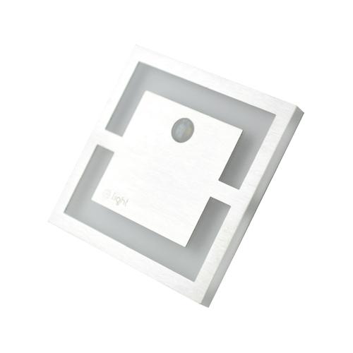 Srebrne Quadro Barwa Ciepła 3000 K Pir. 12 V