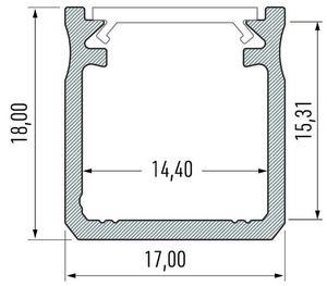 Profil Aluminiowy Biały Typ Y 1m + Klosz Mleczny small 1