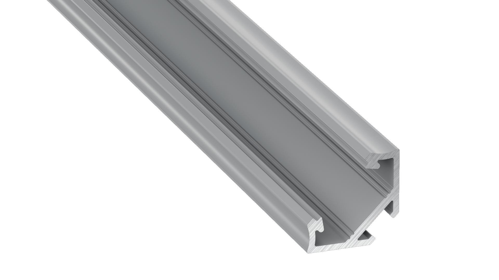 Profil Aluminiowy Srebrny Typ C 2m + Klosz Mleczny (C Sreb 2 M)