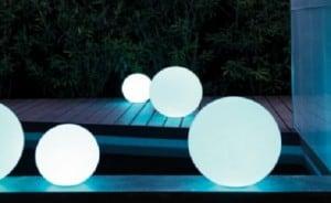 Kule ogrodowe Dekoracyjne - Luna Balls 30, 40, 50cm + Żarówki RGBW z Pilotem  small 2