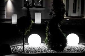Kule ogrodowe Dekoracyjne - Luna Balls 30, 40, 50cm + Żarówki RGBW z Pilotem  small 4