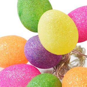 Duze Plastikowe Jajka Wielkanocne Led Z Brokatem Kolorowe 1 Zielone small 1