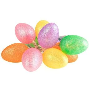 Duze Plastikowe Jajka Wielkanocne Led Z Brokatem Kolorowe 1 Zielone small 0