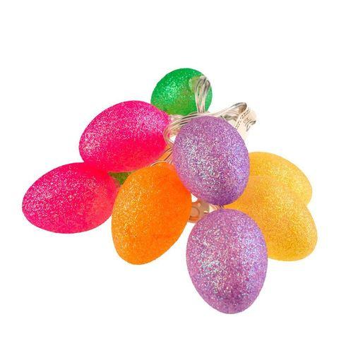 Male Plastikowe Jajka Wielkanocne Led Z Brokatem