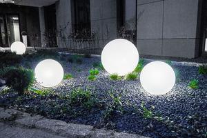 Zestaw dekoracyjne kule ogrodowe 25 cm 30 cm 40 cm + 3x Led RGBW + Pilot small 6