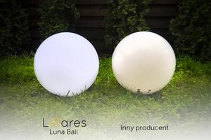 Zestaw dekoracyjne kule ogrodowe 25 cm 30 cm 40 cm + 3x Led RGBW + Pilot small 2
