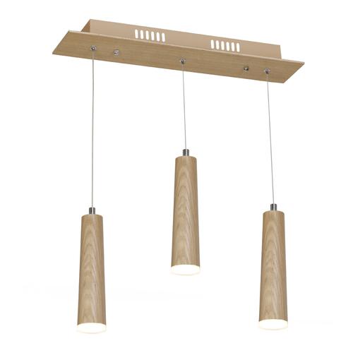 Drewno Fsc 100% Lampa Wisząca Stick 15 W Led