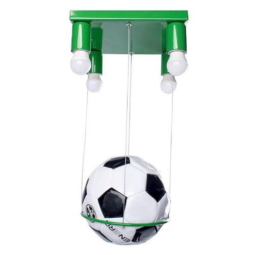 Zielona Lampa Sufitowa Football 4x E27