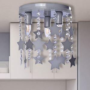 Szara Lampa Sufitowa Star 3x E27 small 5