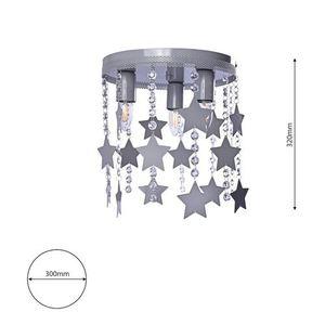 Szara Lampa Sufitowa Star 3x E27 small 6
