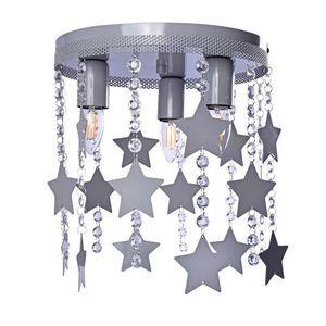 Szara Lampa Sufitowa Star 3x E27 small 0