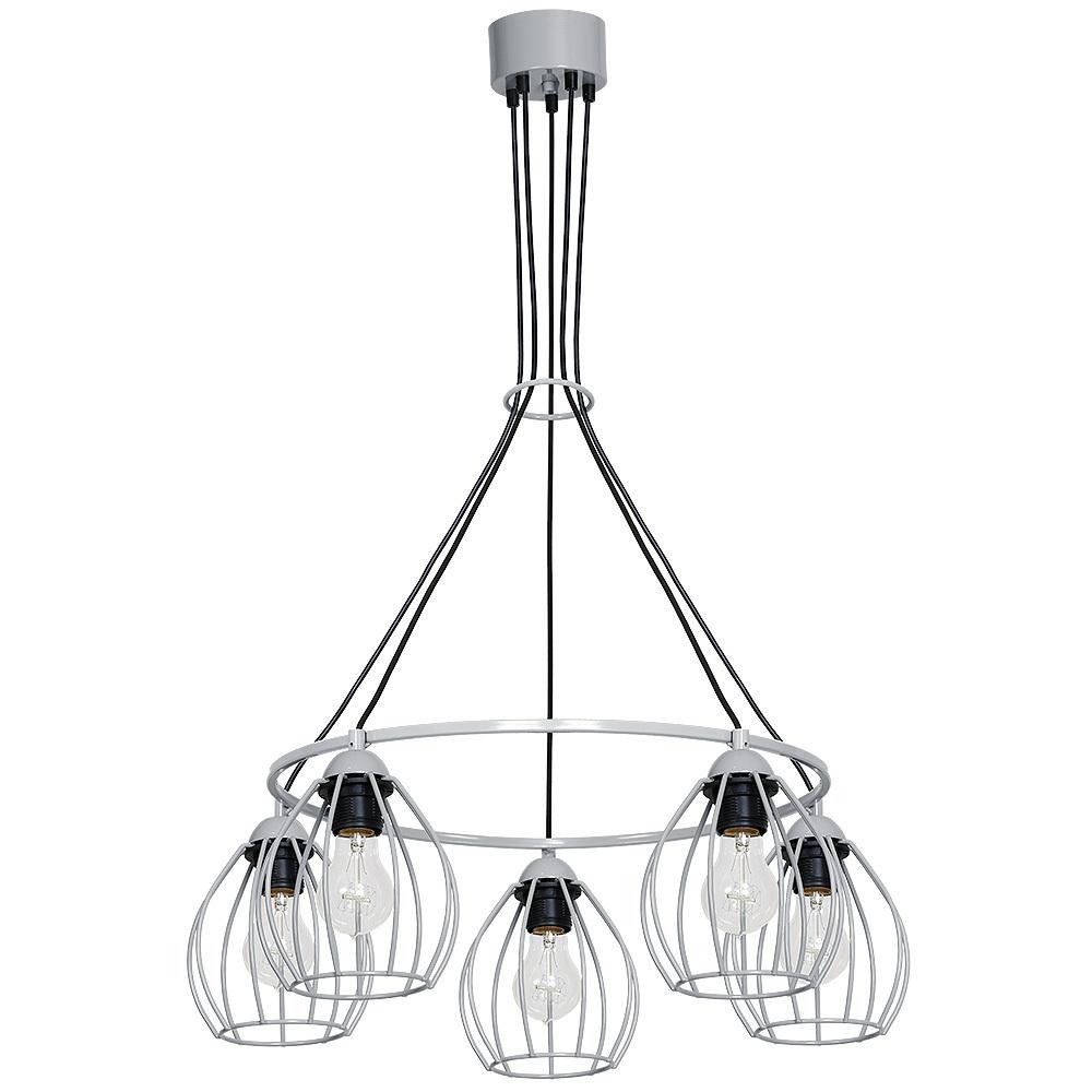Lampa Wisząca Don Grey 5x E27